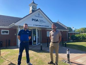 Rob Rock with Daniel Warwick, Head PGA Golf Professional at The Belfry.