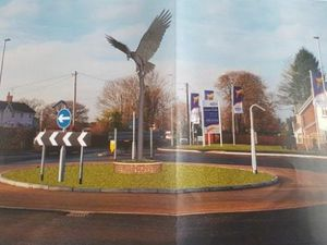An image of how the Eccleshall eagle statue could look was submitted to Stafford Borough Council In 2017