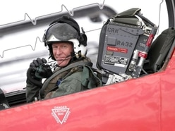 Astronaut Tim Peake joins Red Arrows for military air show flight