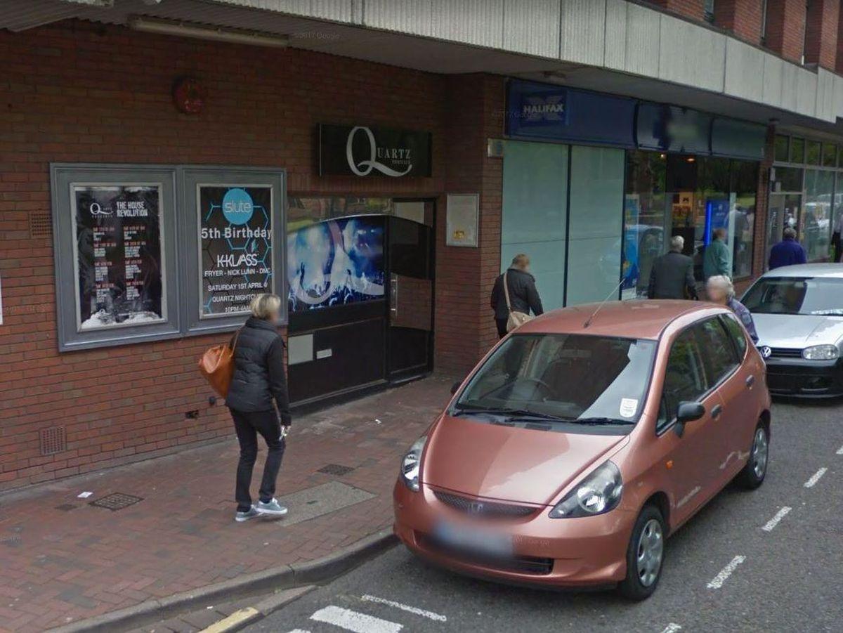 The former Quartz nightclub, in Cannock. Photo: Google Maps