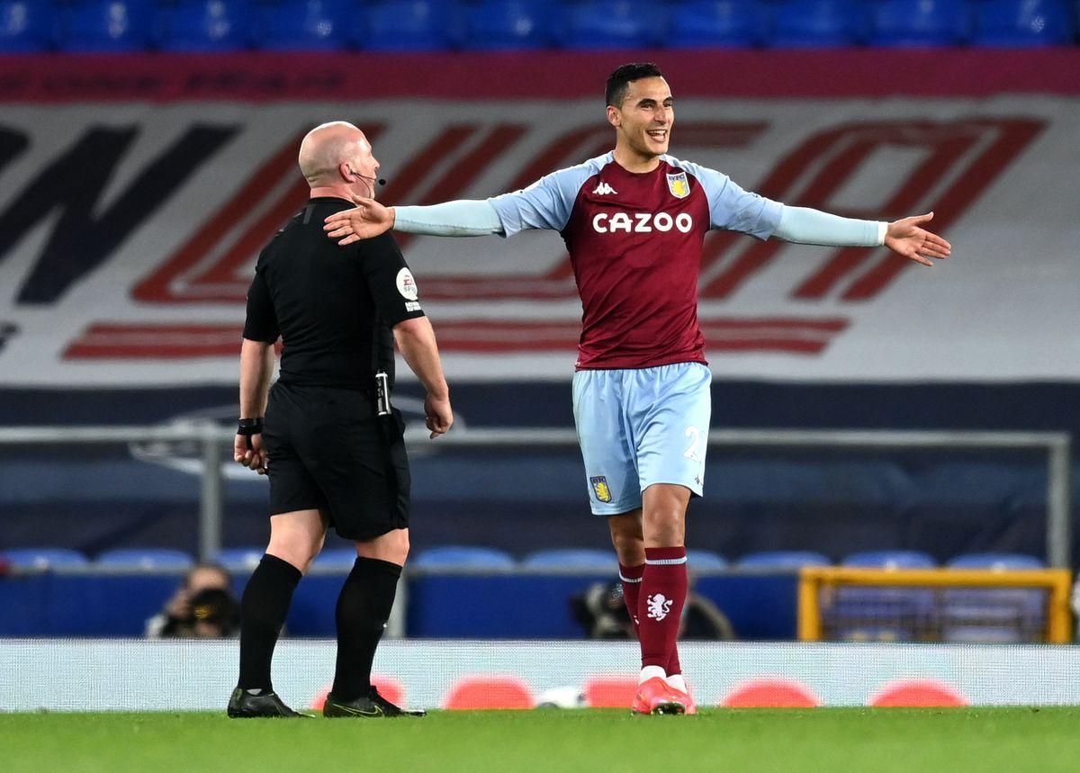 Aston Villa's Anwar El Ghazi (right) celebrates