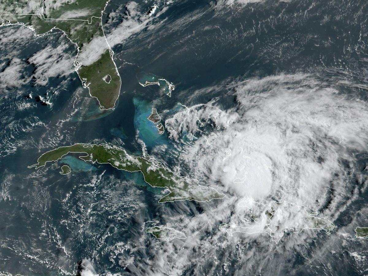 Hurricane Isaias churns in the Caribbean (NOAA/AP)
