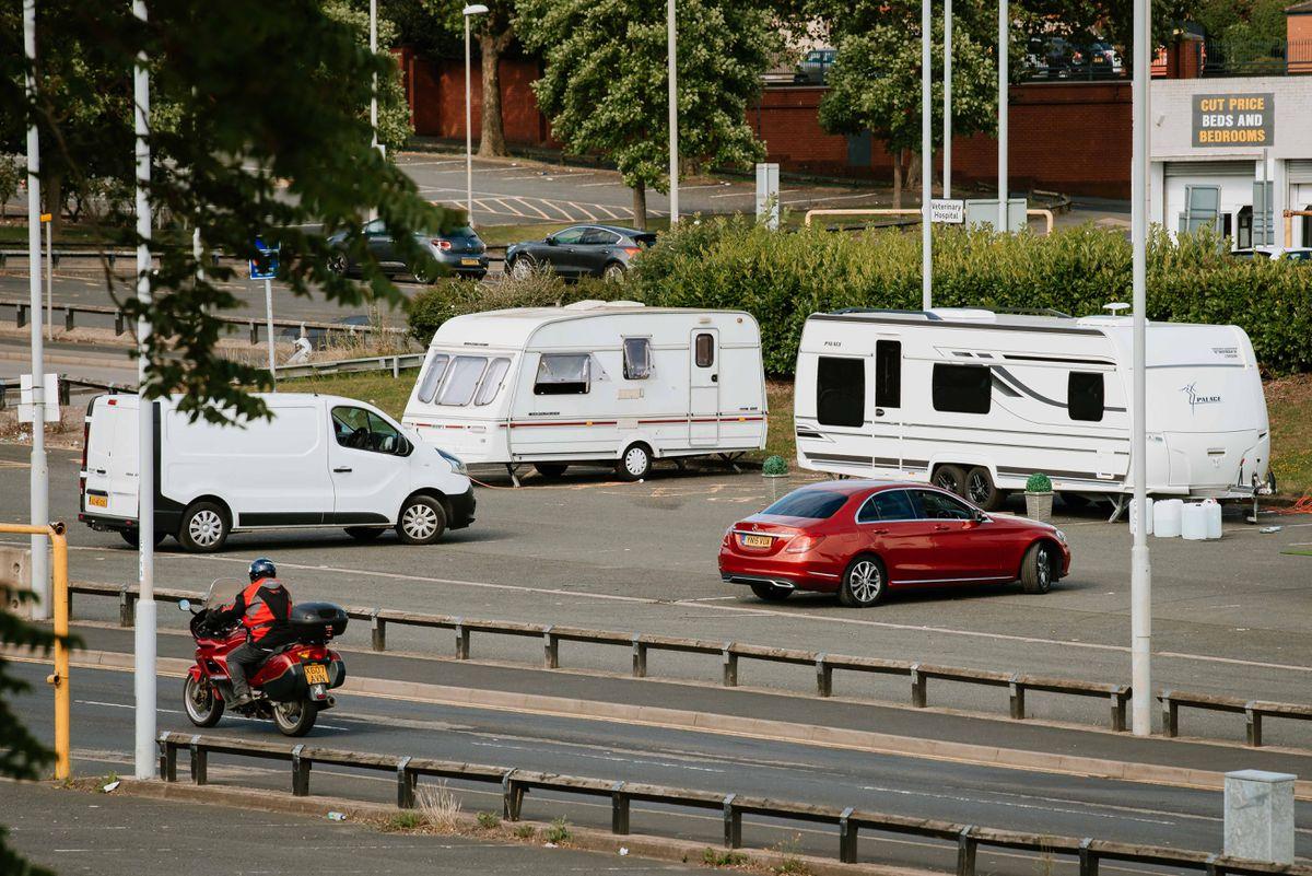 Caravans have been spotted on Flood Street car park.
