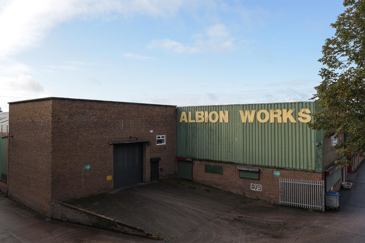 The men were killed in a car at Albion Works. Photo: SnapperSK