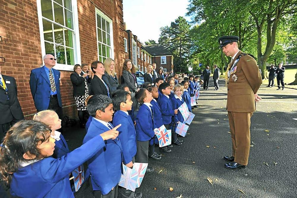 Prince edward in anniversary visit to royal wolverhampton school express star Royal school swimming pool wolverhampton