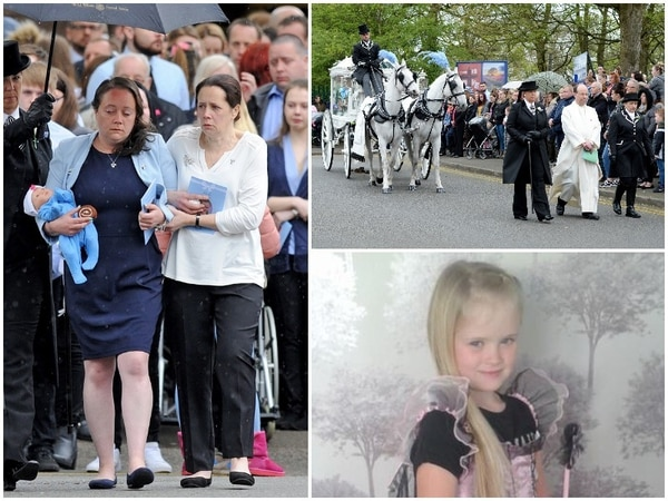 Mylee Billingham's heartbroken family join community to say farewell at funeral