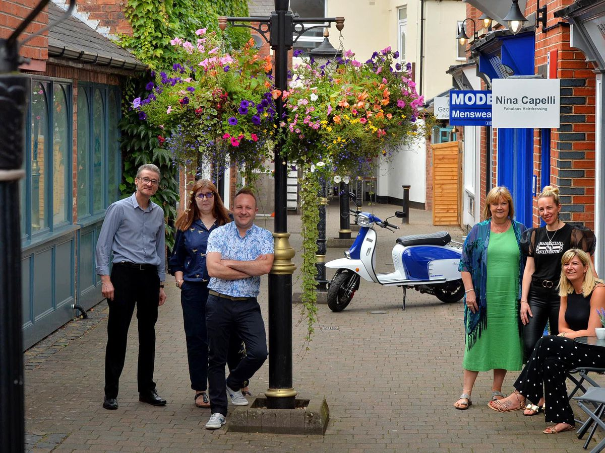Business owners in Limes Court, a little gem which has become a bouncing, vibrant area
