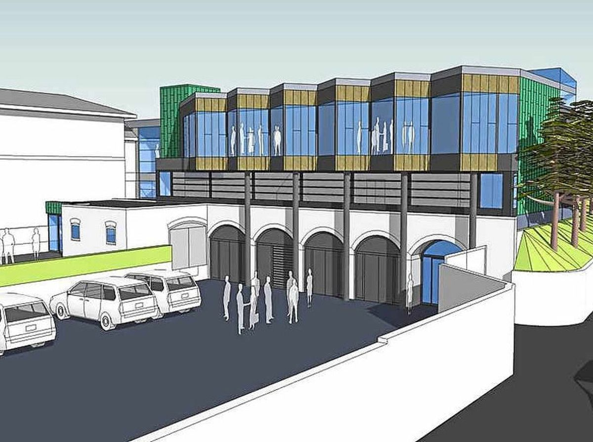 An artist's impression of the hospice revamp