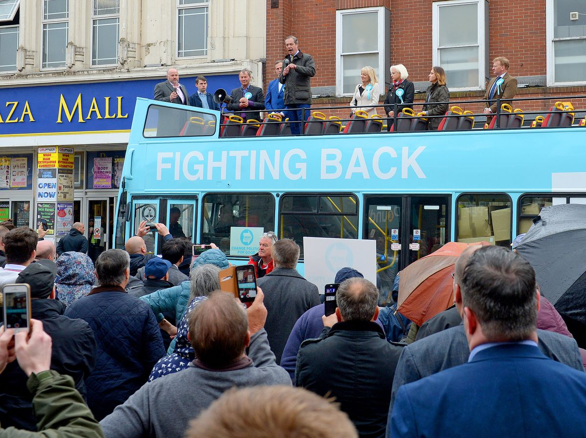 Nigel Farage has always drawn a crowd in Dudley, but he was forced to cancel Friday's visit to the town