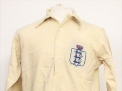 Century-old England shirt swapped by ex-Wolves manager sold for £4k