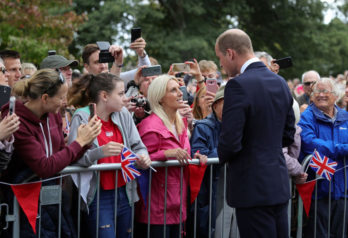 Prince William meets the crowds in Stourbridge