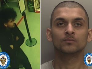 Shoaib Iqbal followed the 65-year-old man to an alleyway off Chapel Street where he dragged him to the ground and ripped his wallet from his pocket. (Pics: West Midlands Police)