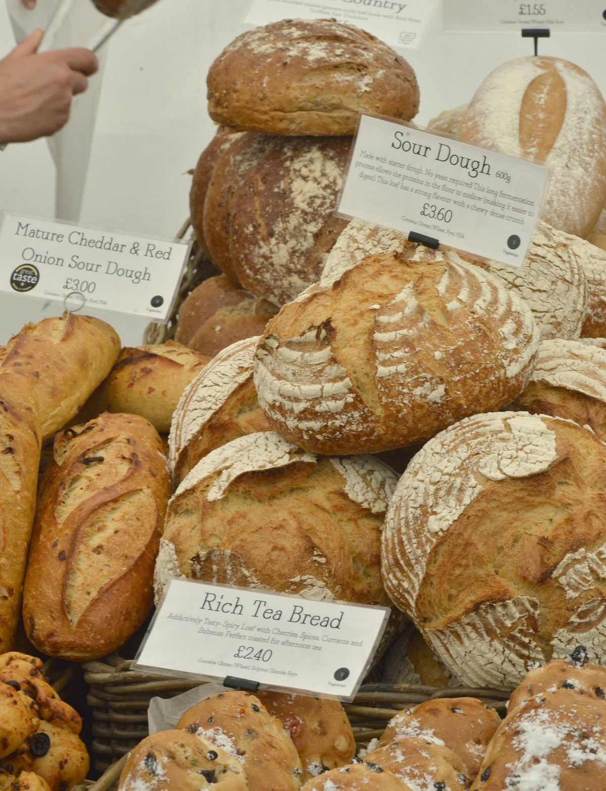 Some of the huge range fo produce on show at the Great British Food Festival