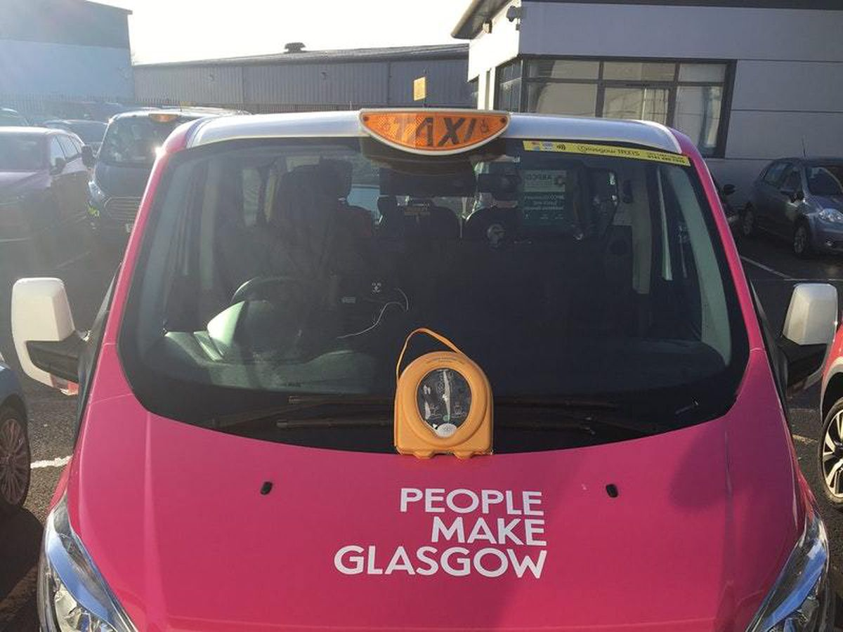 Glasgow Taxis are introducing defibrillators in 15 cars