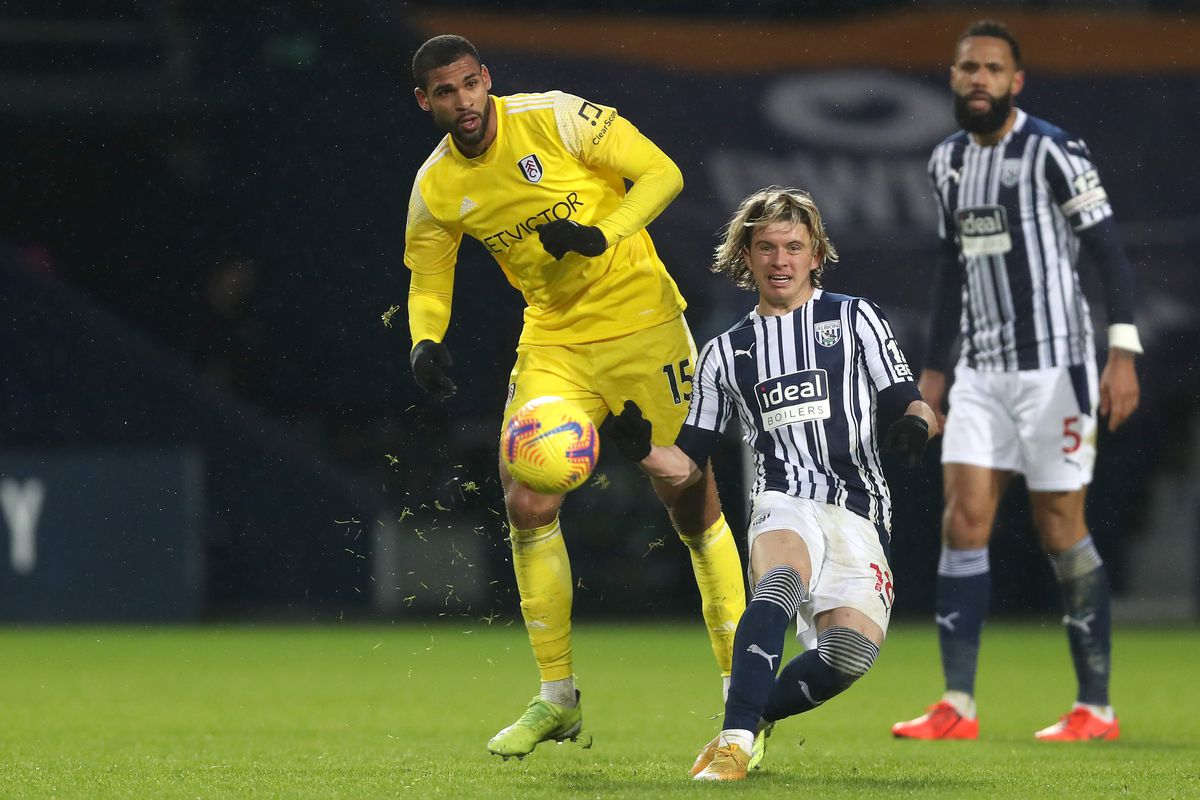 Ruben Loftus-Cheek of Fulham and Conor Gallagher of West Bromwich Albion. (AMA)