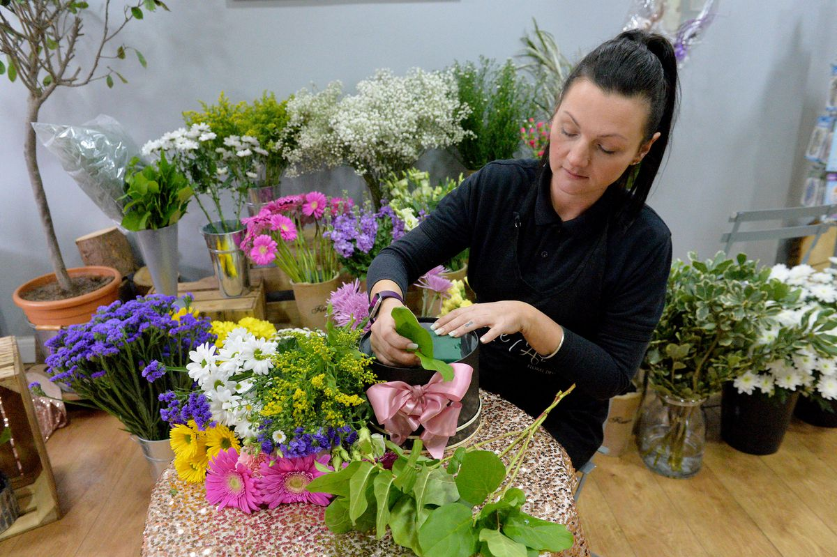 Leanne says flower arranging can be therapeutic