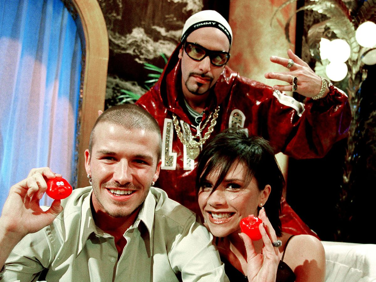Ali G with the Beckhams