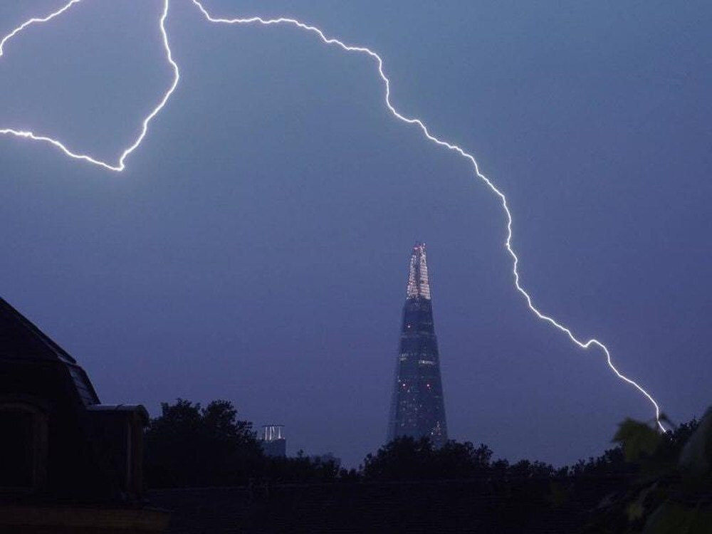 15,000 Lightning Strikes Recorded Across Britain