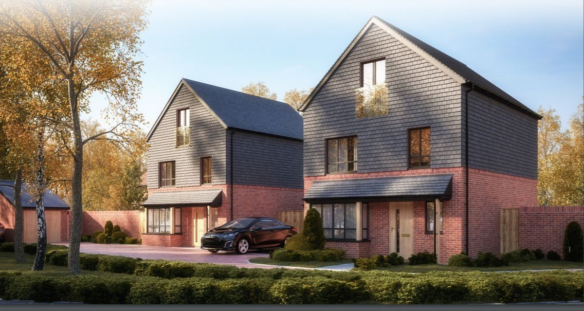 Artist impression of proposed new homes on land behind Cricket Close, Walsall. Photo: BM3 Architecture