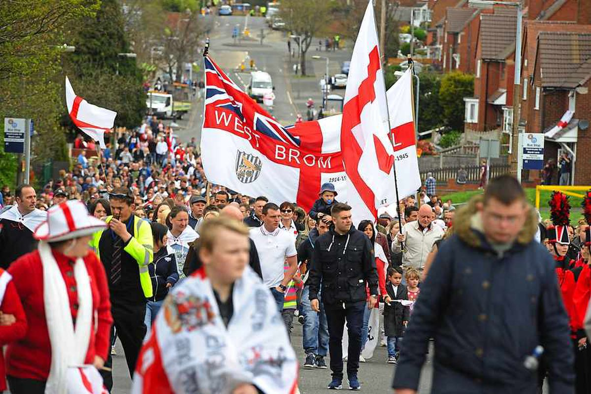 Red and white will fly to honour St George in West Bromwich