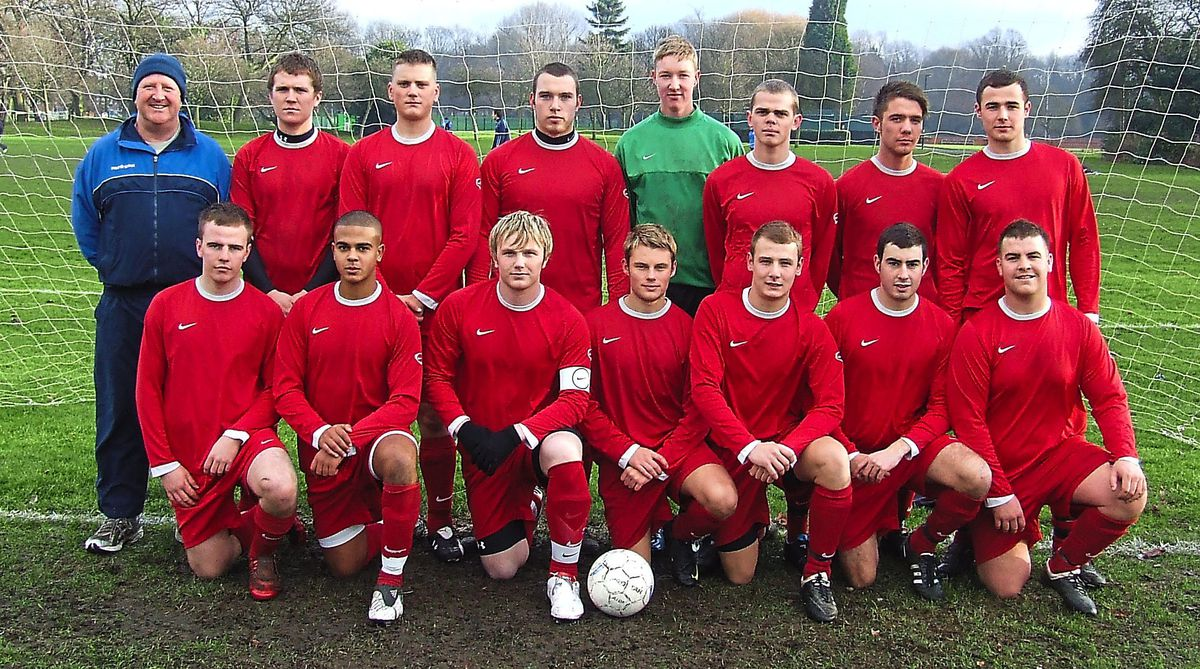 Red alert – Castle Youth line up for a team photograph during the 2009-10 season