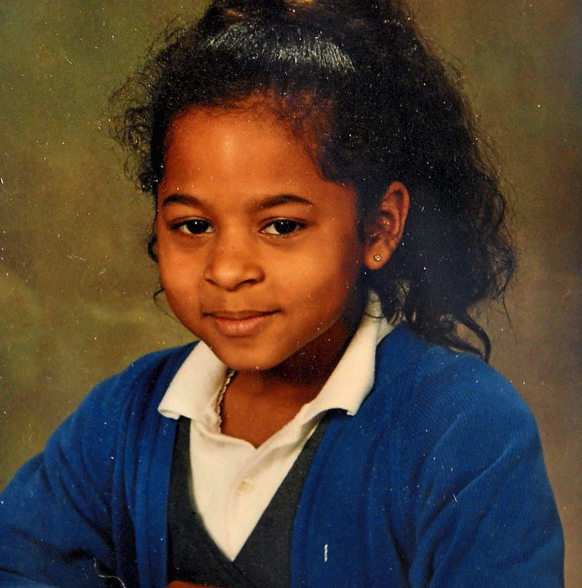 Krystie when she was at primary school