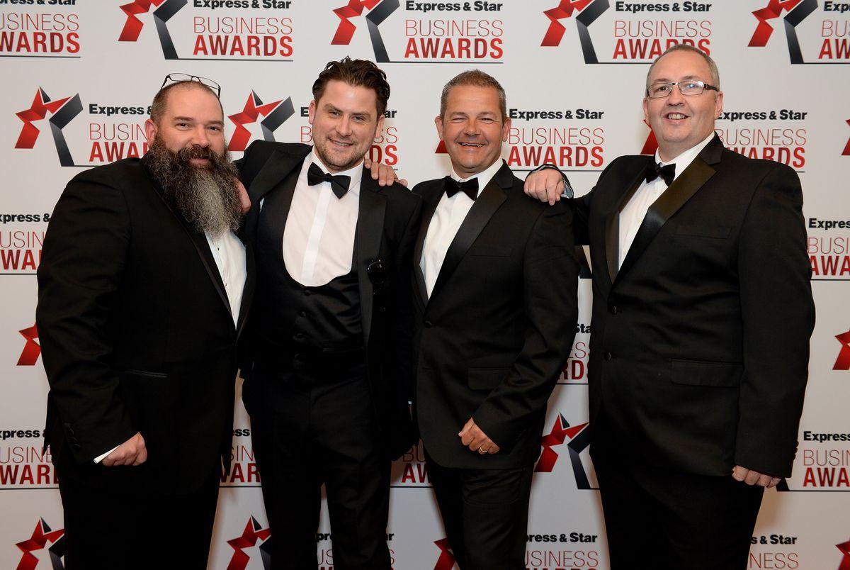 Stuart Summers, Blair Bowen, Jon Stanley and Ian Fitzpartick from Jaguar Land Rover