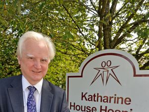 CEO Dr Soulsby at Katharine House Hospice