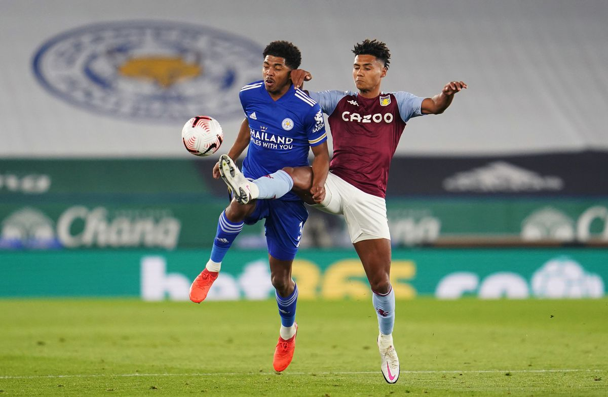 Leicester City's Wesley Fofana (left) and Aston Villa's Ollie Watkins