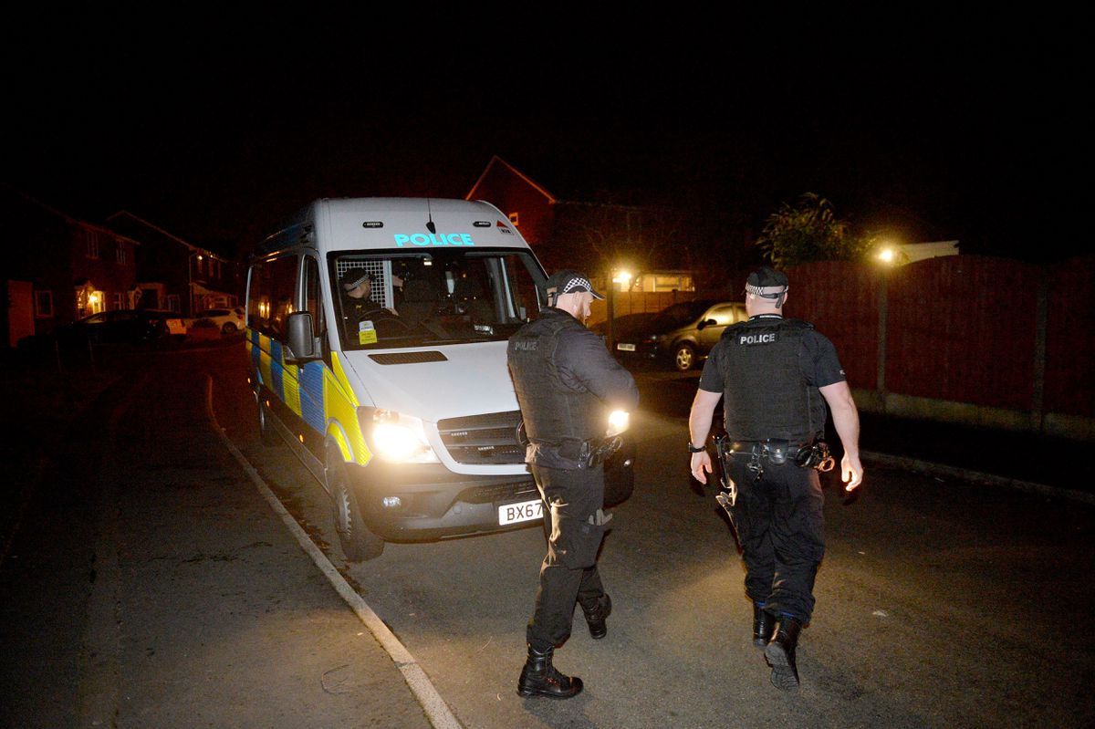 Police carried out a series of raids in the early hours