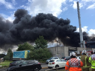 Smoke billows over Black Country as firefighters tackle huge blaze - with VIDEO