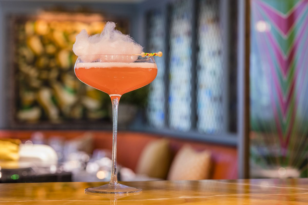 A candyfloss fizz is one of the cocktails on offer