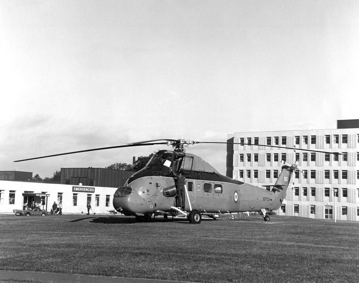 A Westland helicopter