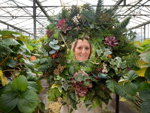 Canalside Farm in Stafford has announced it will hold its Christmas Wreath Workshop online as a way to run the event during the pandemic. Pictured is wreath maker Victoria Barton, who will be running the workshops