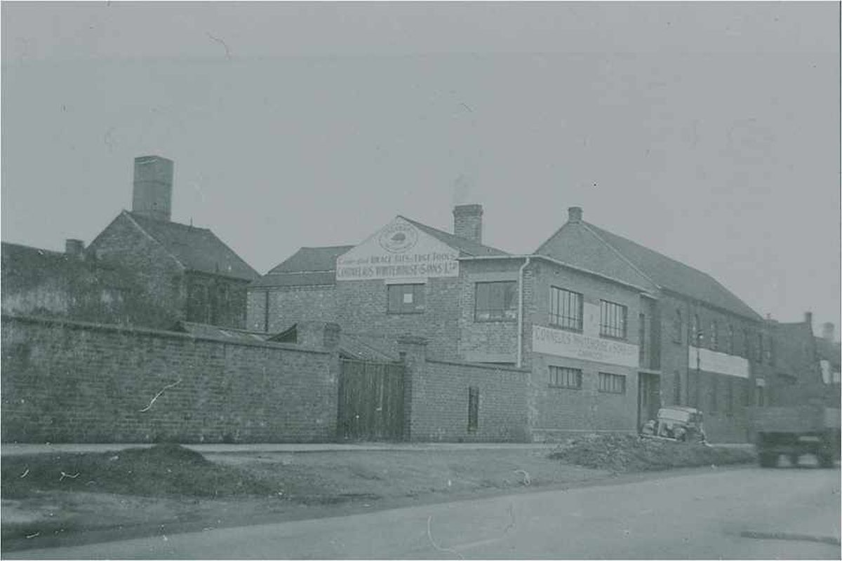 An old picture of the works on Walsall Road