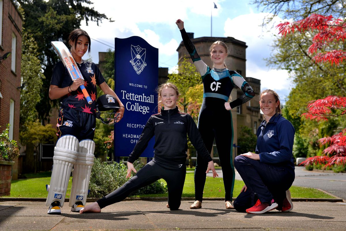 Cricketer: Davina Perrin 14, Gymnast: Gabriella Williams 14 and Cheerleader: Scarlett Wright 14, on some is also Head of PE and Sport: Ali Causebrook