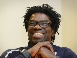 Former Wolves and Aston Villa winger Tony Daley helping out at Stafford Rangers
