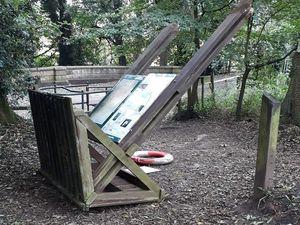 Damage caused by car thieves in Baggeridge Park