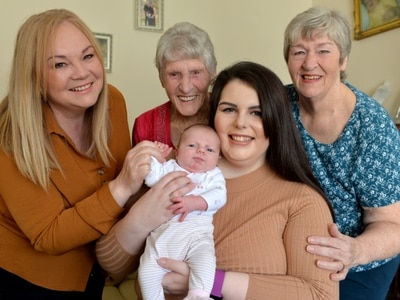 It's all smiles from five generations