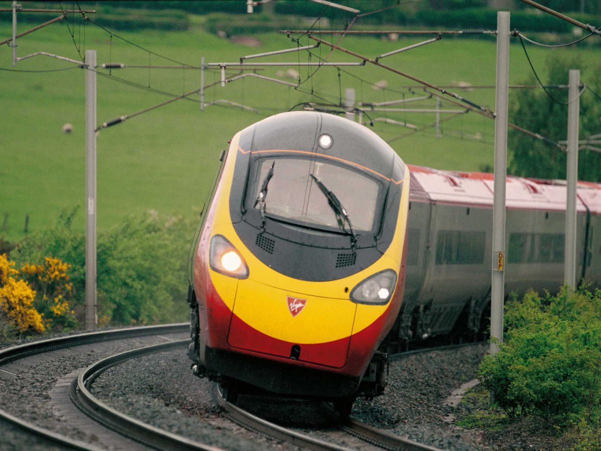 A tilting Pendolino train