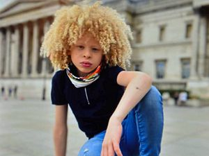 On a fashion shoot in the capital