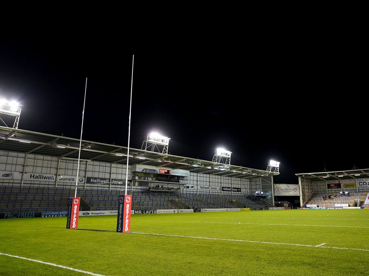 And empty rugby league stadium