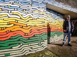 Wolverhampton subway brightened up with multi-coloured mural