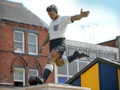 World Cup ready! Duncan Edwards statue transformed ahead of kick-off