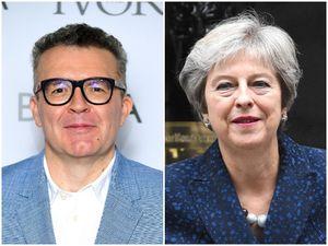 Tom Watson, and right, Theresa May
