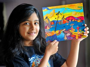 Talented young artist Aditi Mandal, aged 10, from Tettenhall Wood, is fundraising for the Royal Wolverhampton NHS Trust by offering to paint or sketch for a small donation