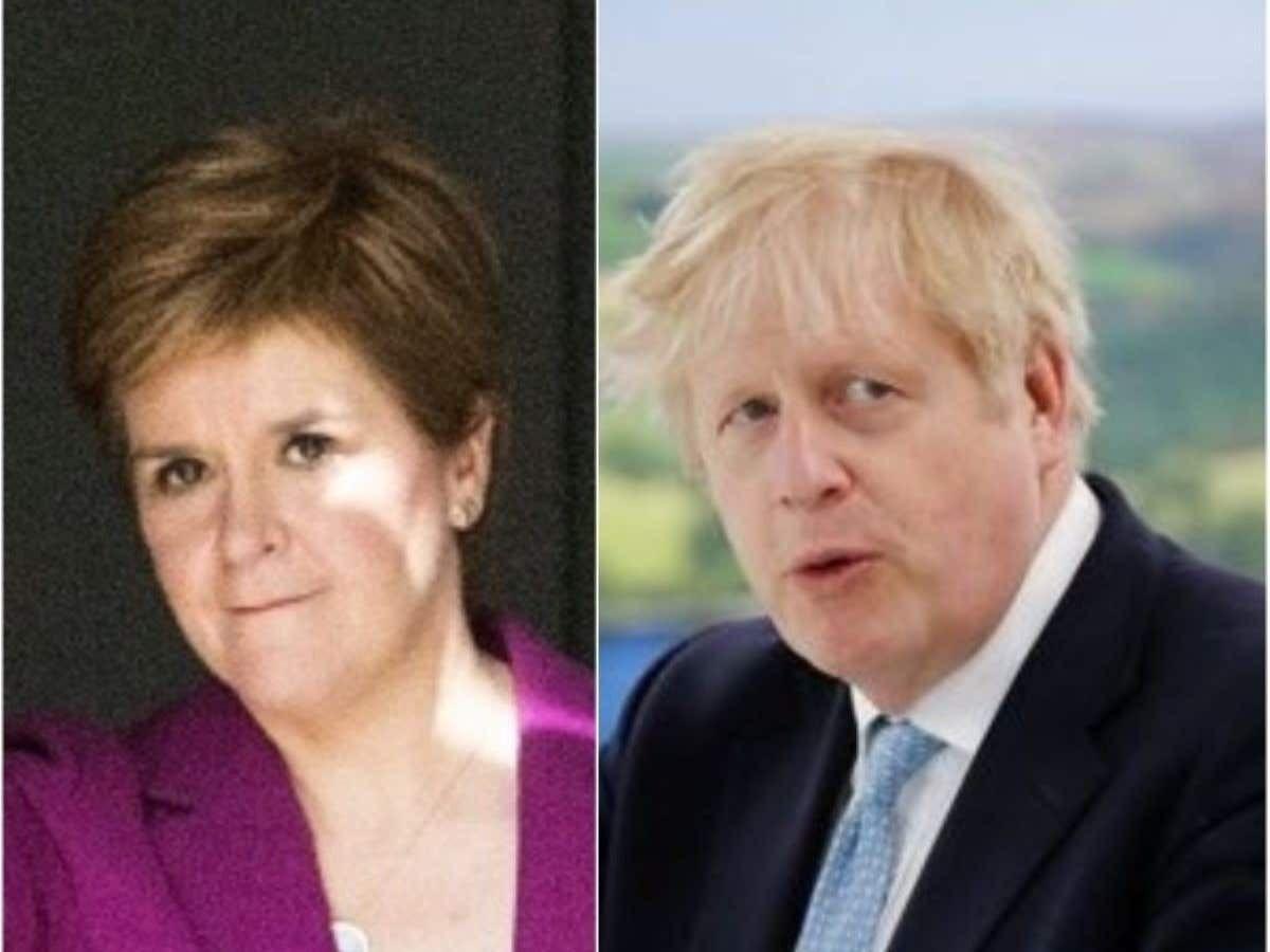 Nicola Sturgeon and Boris Johnson (Jane Barlow/Phil Noble/PA)