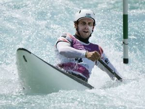 Adam Burgess in action at the Tokyo Olympics