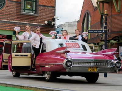 It's automatic, systematic and hydromatic: Pink Cadillac rides into Birmingham ahead of Grease run at Hippodrome - with pictures