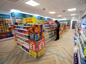 BUSINESS COPYRIGHT MNA MEDIA TIM THURSFIELD 27/05/21 .Pics at Poundland Customer Support Centre, Walsall, for business feature. John Corser has details..The shop within the office building..